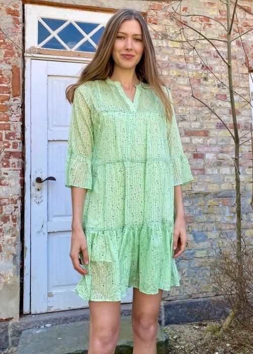 Gunvor sparkle dress LIGHT GREEN Levering slut maj