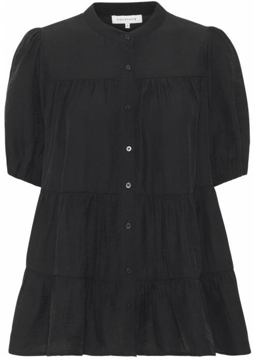 Sanna SS solid blouse BLACK
