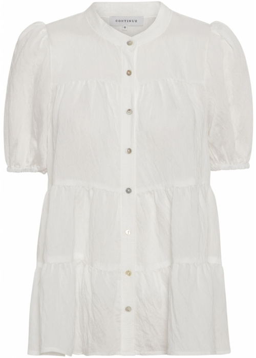 Sanna SS solid blouse WHITE