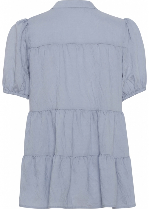 Sanna SS solid blouse LIGHT BLUE