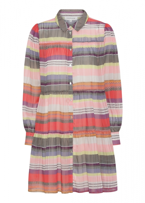 Jeanne dress MULTI STRIPE