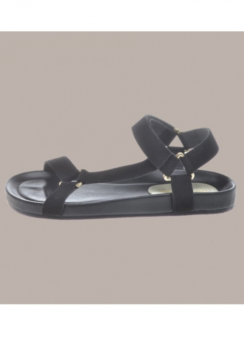 Peace suede sandal BLACK