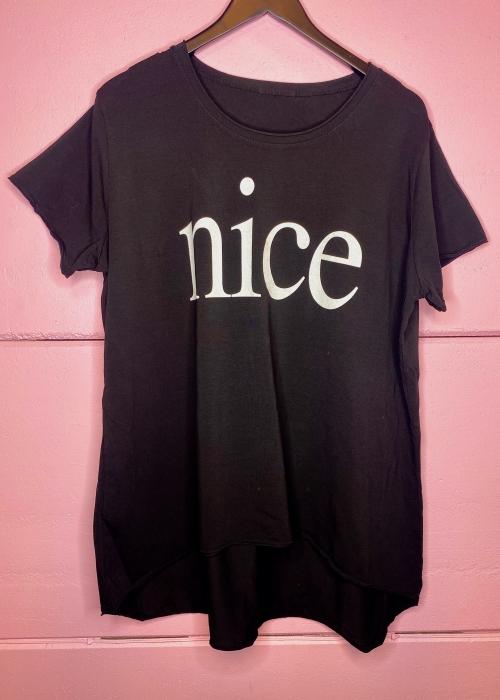 Nice loose tee BLACK