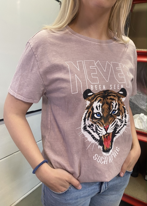 Tiger tee OLD ROSE