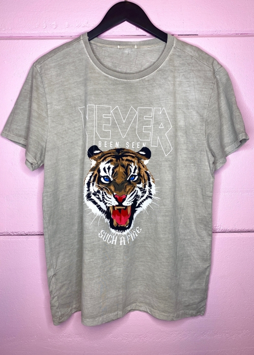 Tiger tee WASHED SAND