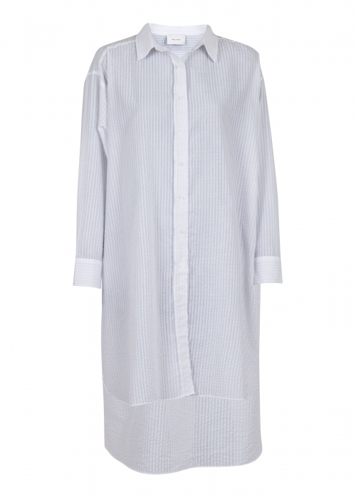Astana stripe shirt dress WHITE