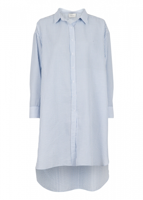 Astana stripe shirt dress LIGHT BLUE