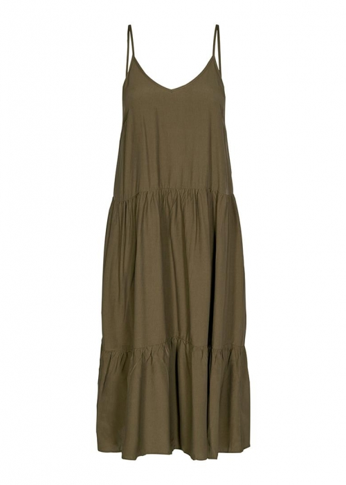 New Gipsy Strap Dress ARMY GREEN