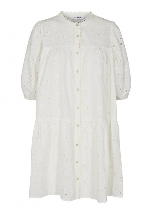 Pola Anglaise dress OFF WHITE