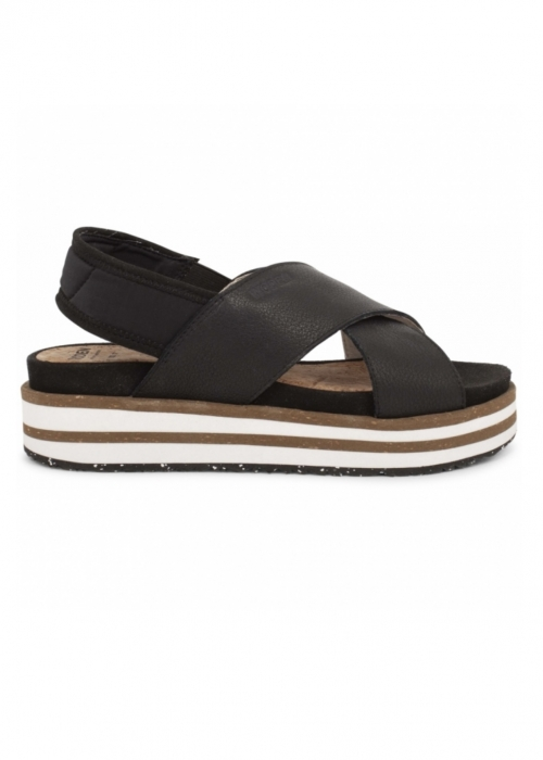 Caroline leather sandal BLACK