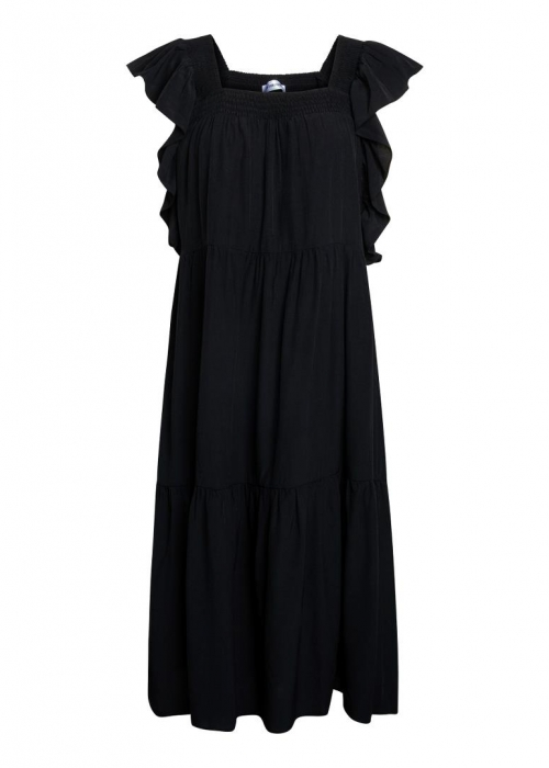 Sunrise smock dress BLACK