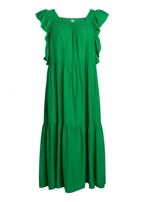 Sunrise smock dress GREEN
