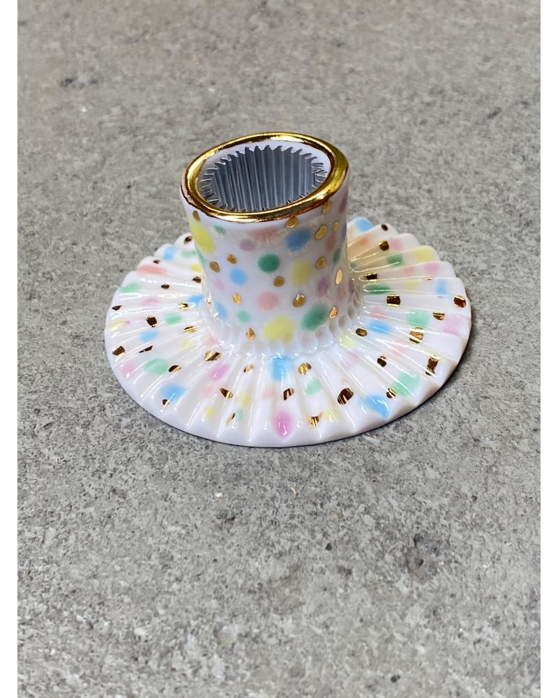 Porcelæns lysestage MULTI
