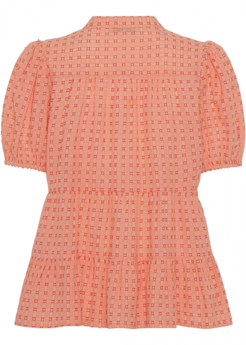 Sanna SS blouse ORANGE CHECK