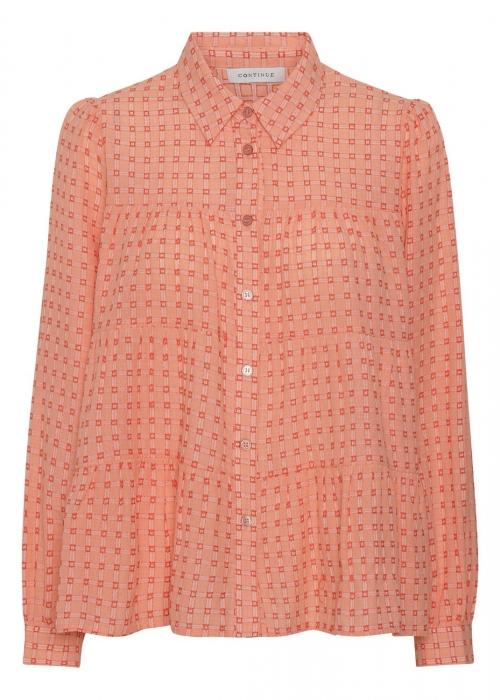 Melina shirt ORANGE CHECK