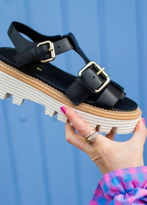 Power for life sandal BLACK