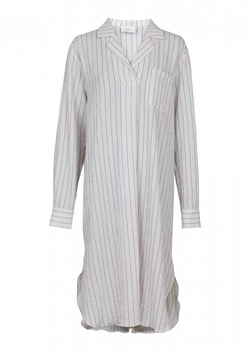Jessica stripe shirt dress OFF WHITE