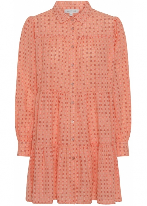 Jeanne dress ORANGE CHECK