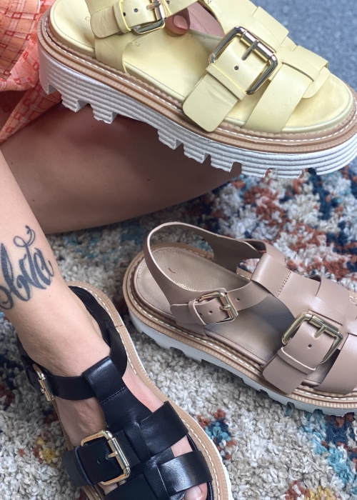 Power for life sandal NUDE